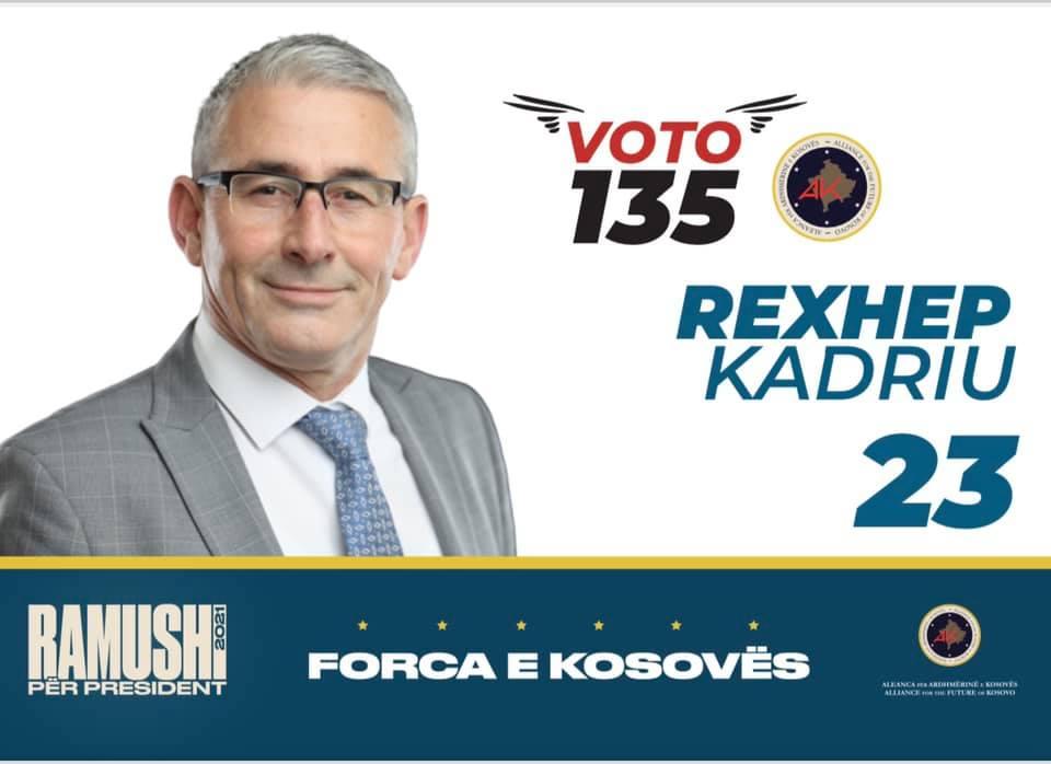 Rexhep Kadriu, kandidat për deputet nga radhët e AAK-së