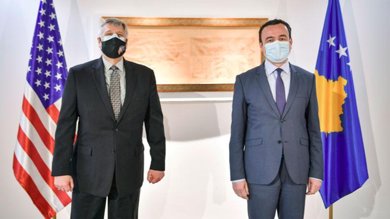 Kryeministri Kurti priti ambasadorin e ShBA-së në Kosovë, Philip Kosnett