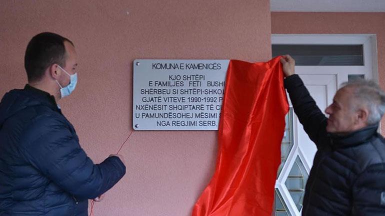 Vendosen pllaka përkujtimore në shtëpitë shkolla që ishin të hapura në vitet e nëntëdhjeta