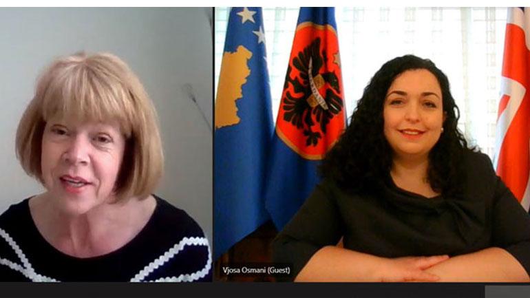 Presidentja Osmani zhvilloi takim virtual me ministren britanike për fqinjësi Evropiane dhe Amerikë, Wendy Morton