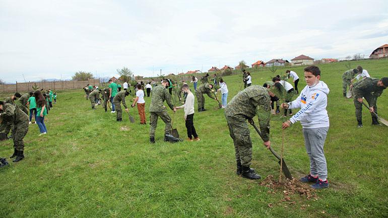 Shënohet Dita e Tokës me mbjelljen e fidanëve nga pjesëtarët e FSK-së