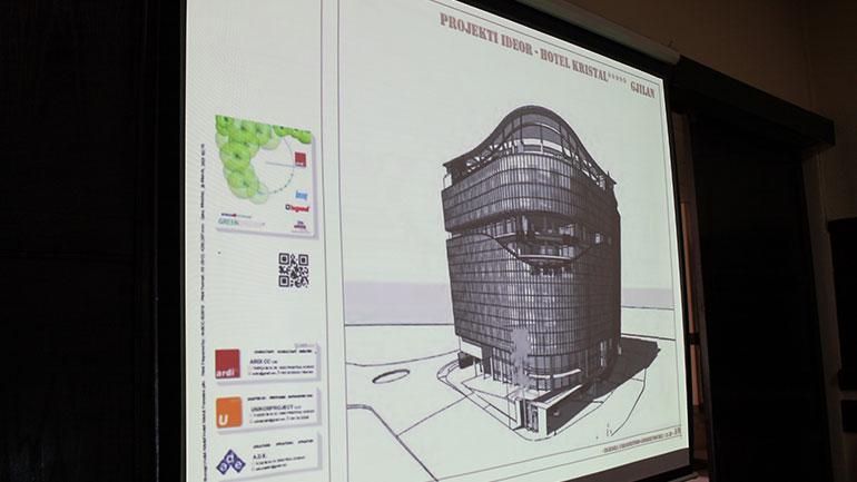"""Prezantohet plani ideor për Hotel """"Kristal-in"""" e ri!"""