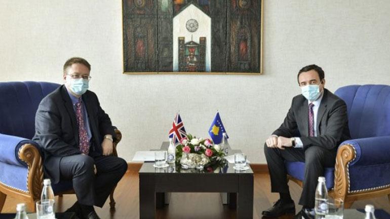 Biseduan për bashkëpunimin e mëtejmë mes Republikës së Kosovës dhe Mbretërisë së Bashkuar