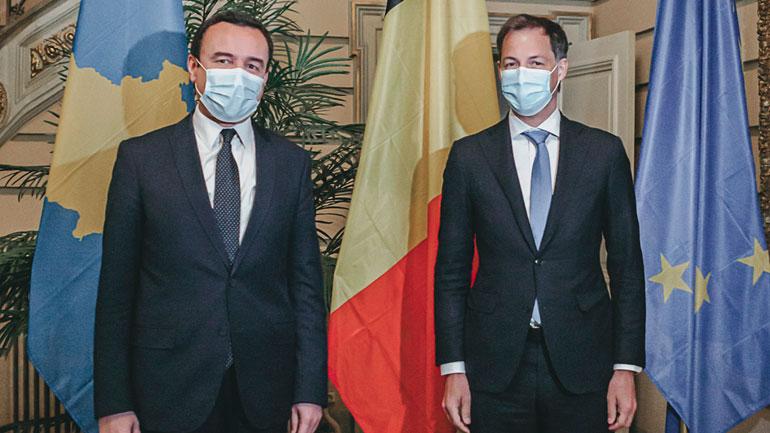 Kryeministri Kurti u prit në takim nga kryeministri belg, Alexander De Croo