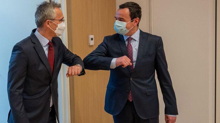 Kryeministri Kurti u prit në takim nga Sekretari i Përgjithshëm i NATO-s, Jens Stoltenberg