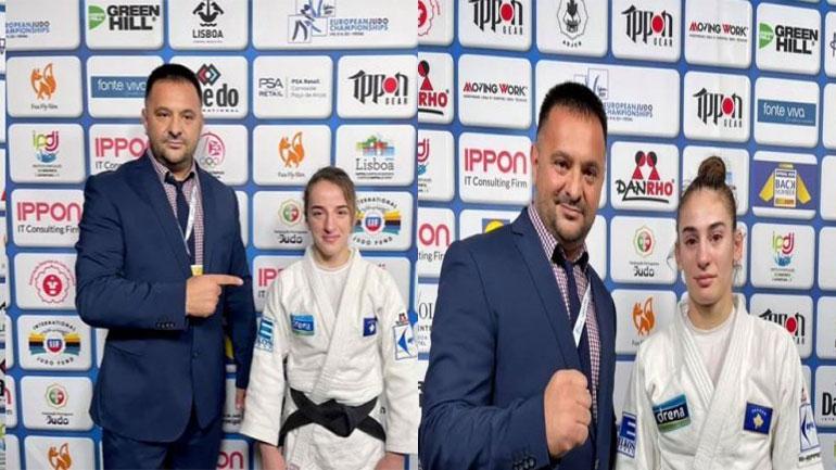 Vazhdon suksesi i xhudistëve kosovare, Distria Krasniqi e artë, Nora Gjakova e bronztë