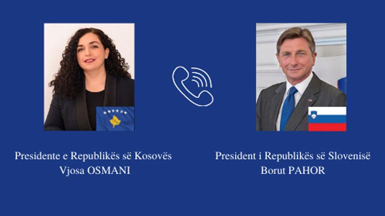 Presidentja e Kosovës zhvilloi një bisedë telefonike me Presidentin e Sllovenisë