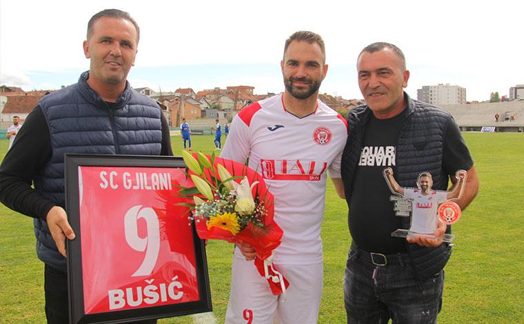 SC Gjilani falënderon lojtarin kroat: Faleminderit Bushiç