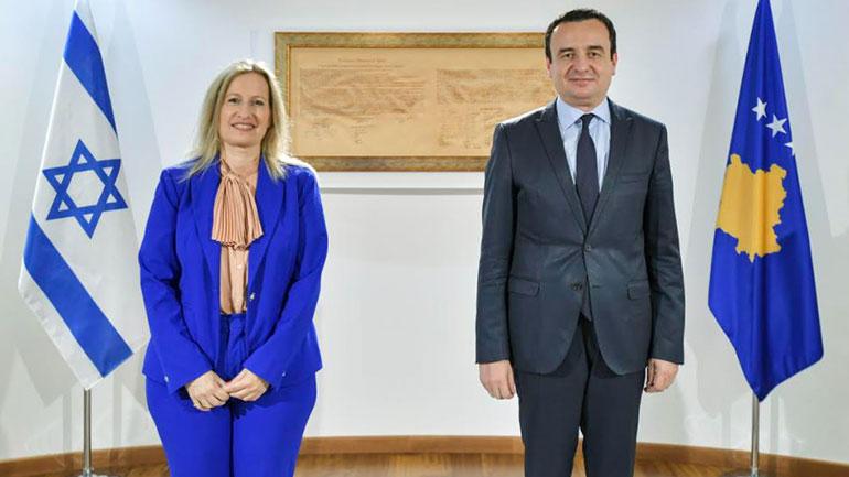 Kryeministri Kurti priti në takim udhëheqësen e Komitetit Amerikano-Hebraik, Avital Leibovich