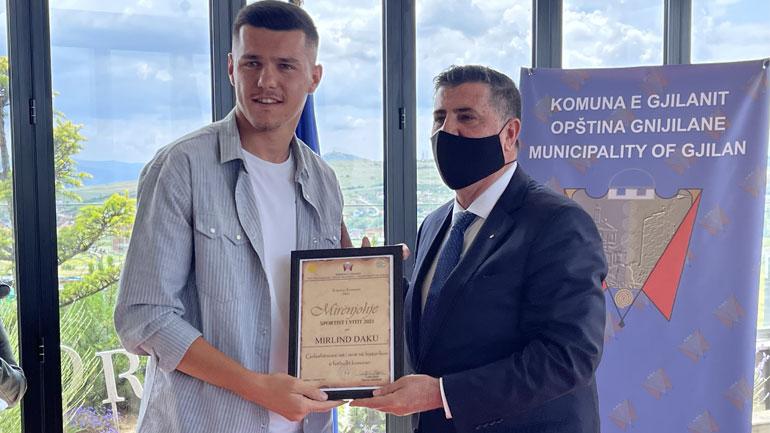 Mirlind Daku shpallet sportist i vitit në Gjilan për 2020/2021
