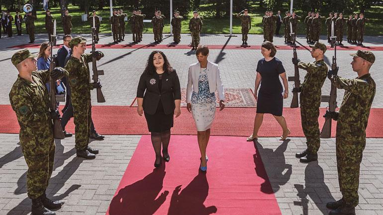 Presidentja Osmani u takua me Presidenten e Estonisë, Kersti Kaljulaid
