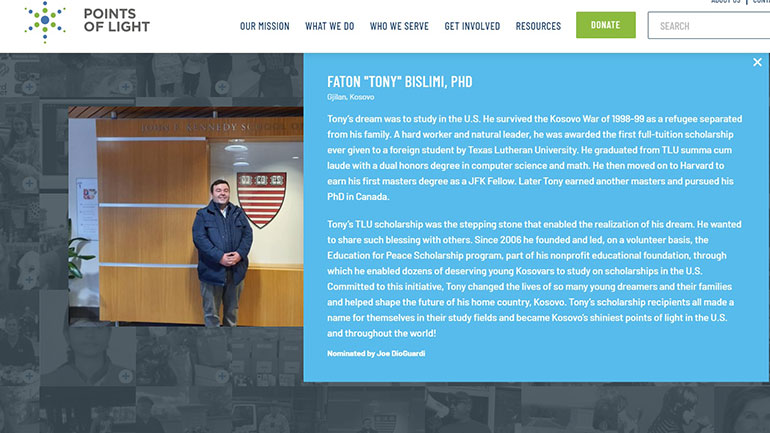 Fondacioni i Presidentit Bush nderon Dr. Faton Bislimin