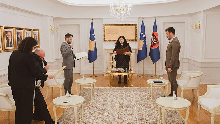 Dy anëtarë të ri të KQZ-së dhanë betimin para Presidentes Osmani
