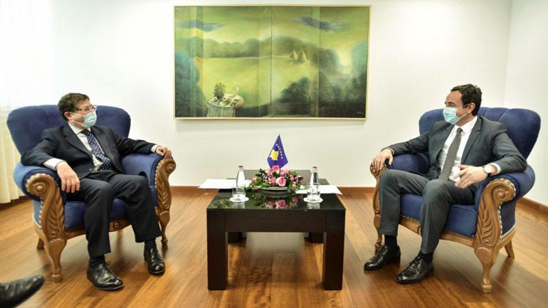 Kryeministri Kurti priti në takim një delegacion nga BERZh