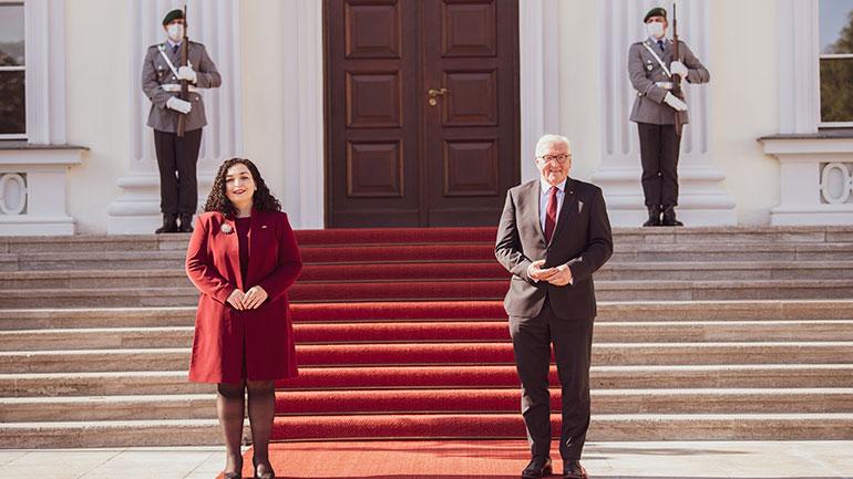 Presidentja Vjosa Osmani takoi presidentin e Gjermanisë, Frank-Walter Steinmeier