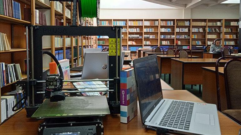 """Biblioteka publike """"Ramadan Musliu"""" në Viti, bëhet me qasje në internet si dhe pajiset me katër laptop dhe një printer 3D"""